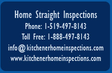 Home Straight Inspections, Kitchener-Waterloo and surrounding area